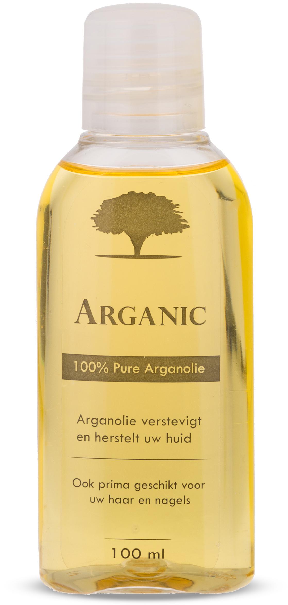 Plastic fles cosmetische arganolie 100ml Arganic