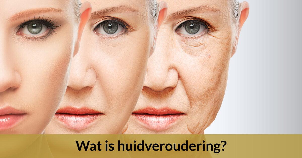 3 gezichten vrouwen vrouw huidveroudering