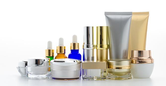 Verschillende huidverzorgingsproducten