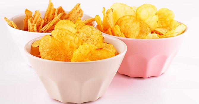 Schaaltjes met chips