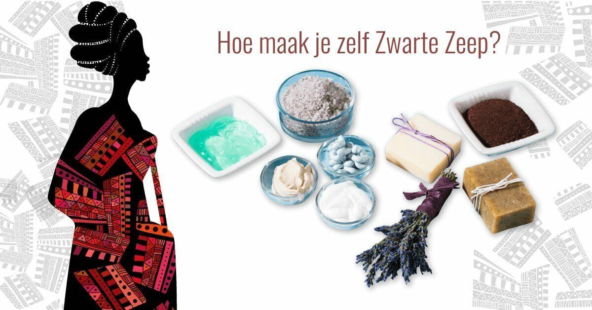 Afrikaanse vrouw tekening DIY zwarte zeep ingredienten