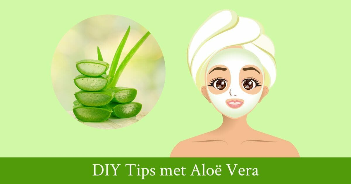 Aloe vera plant tekening vrouw handdoek gezichtsmasker
