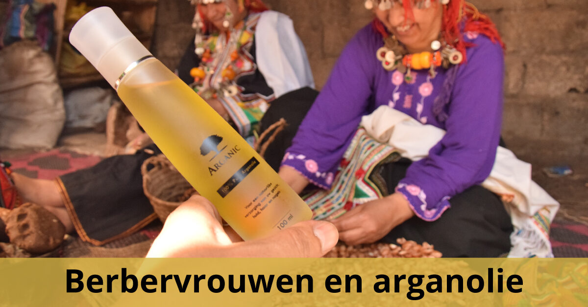 Arganolie fles berbervrouwen