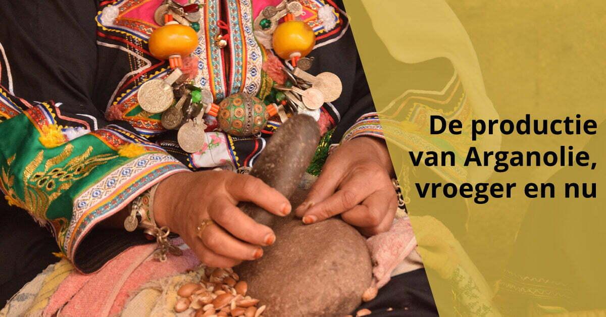 Berbervrouw productie arganolie vroeger heden argannoten