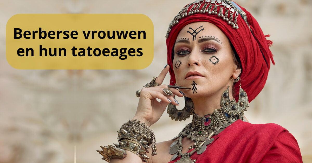 Berbervrouw tatoeages