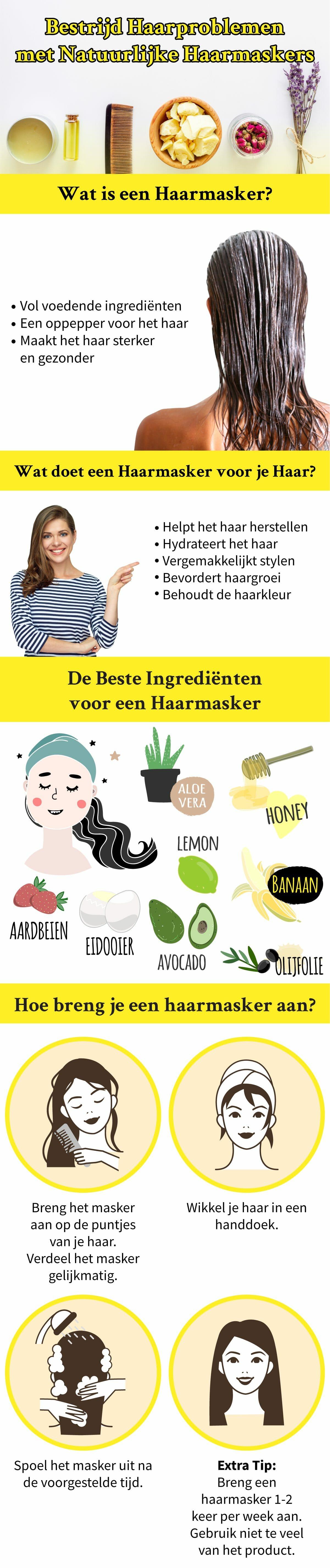Haarmasker infographic
