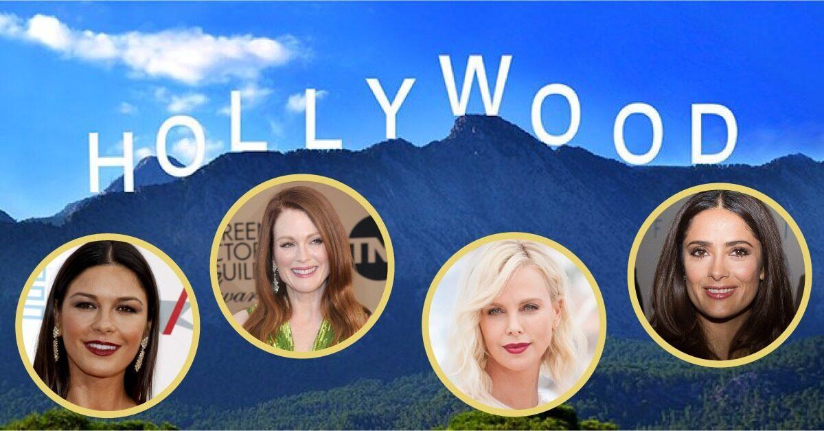 Hollywood bord beroemde vrouwen