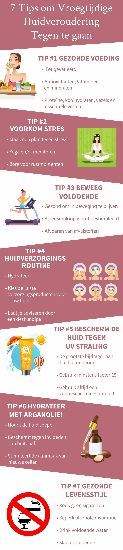 Infographic Tips Vroegtijdige Huidveroudering Tegengaan