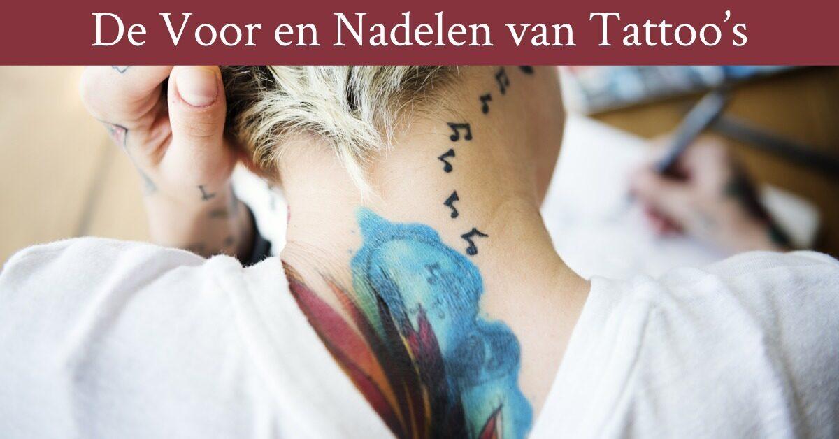 Nek tattoo vrouw