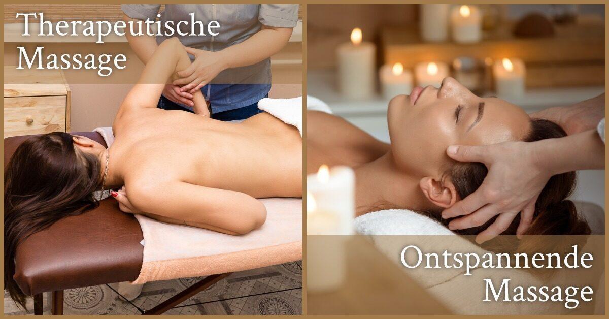 Therapeutisch Ontspanning Massage gemasseerd
