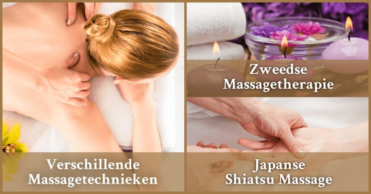 Verschillende massagetechnieken Japanse Shiatsu Massage Zweedse Massagetherapie