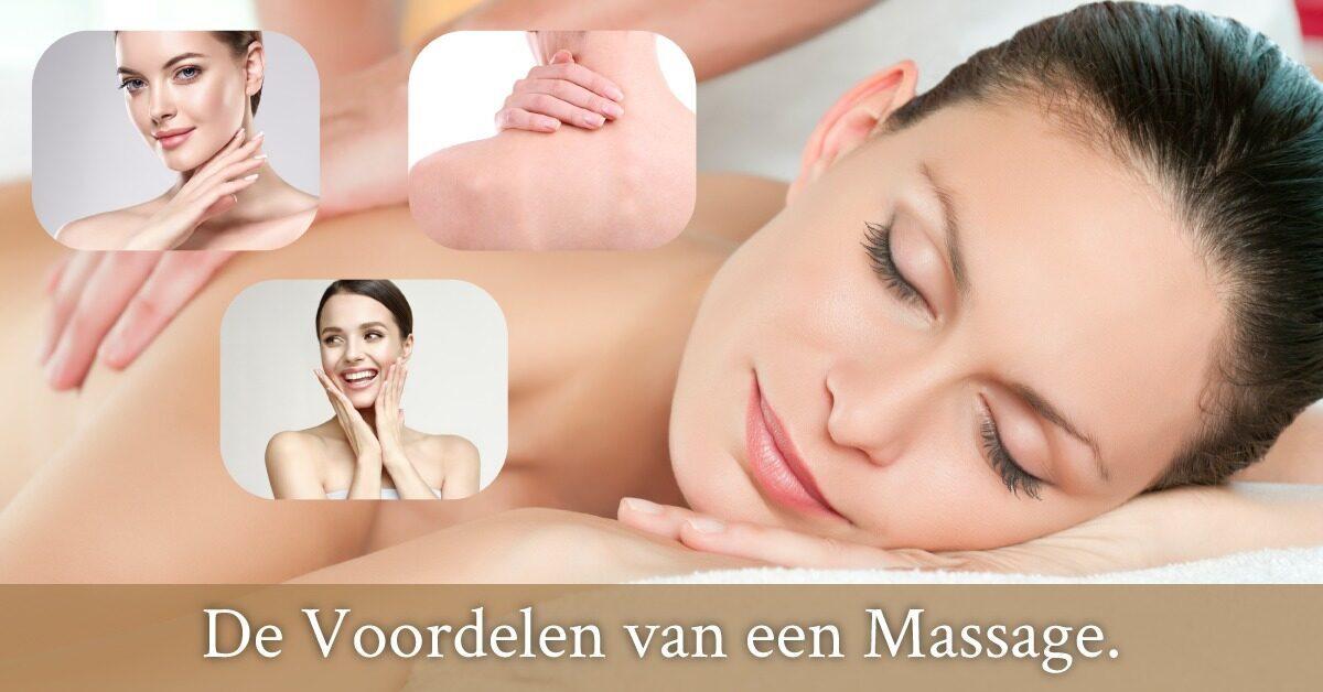 Voordelen massage spieren huid rug relaxed vrouw liggend