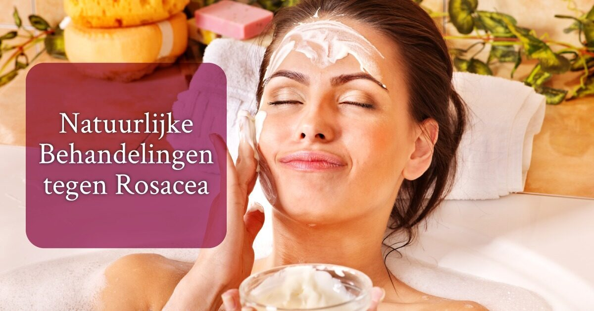Vrouw gezichtsmasker natuurlijke behandeling rosacea