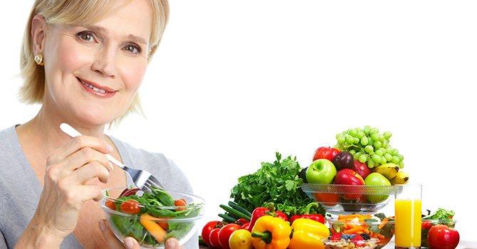 Vrouw Die Fruit Eet Voor Anti-Oxidanten