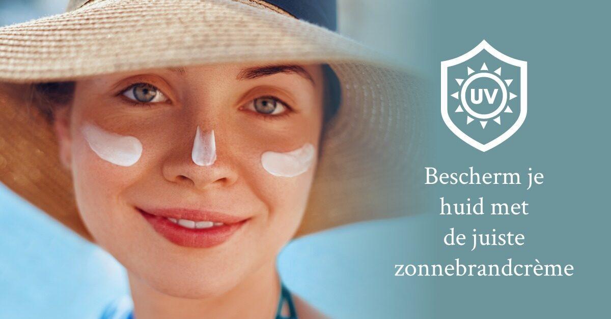bescherm vette huid tegen zon UV bescherming zonnebrandcreme zonnebrand vrouw zonnehoed