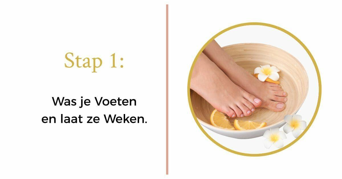 citroen bloem voet voetenbad