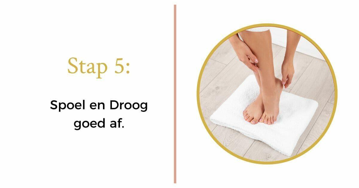 handdoek voeten drogen