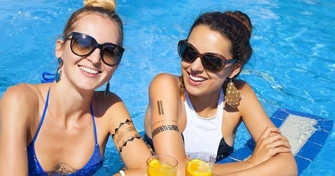zwembad tatoo