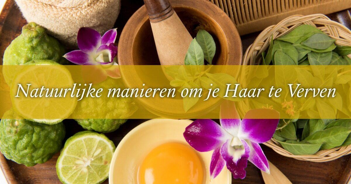 ingredienten natuurlijke haarverf ei bloem citroen