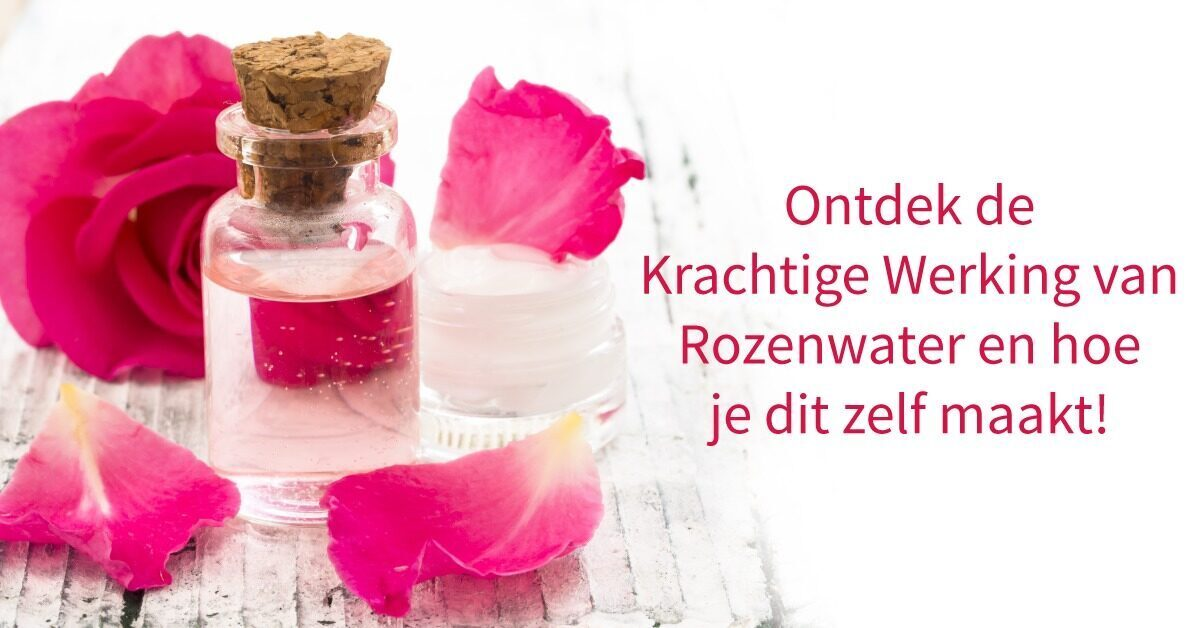 rozenblaadjes flesje rozenwater