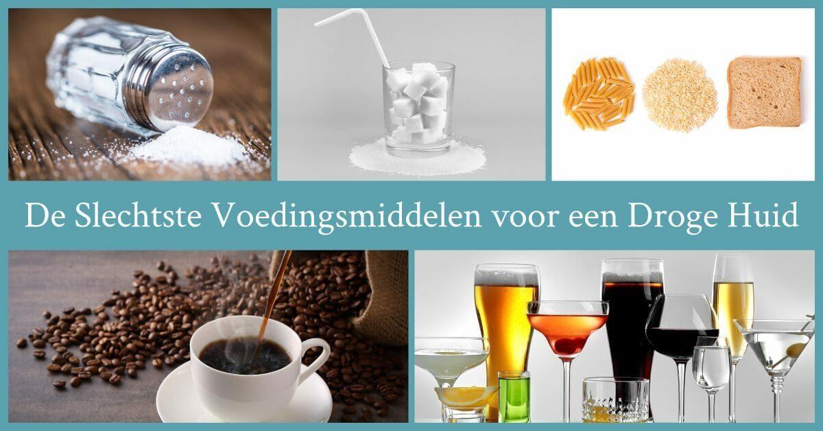 slechte voedingsmiddelen zout suiker koolhydraten koffie alcohol