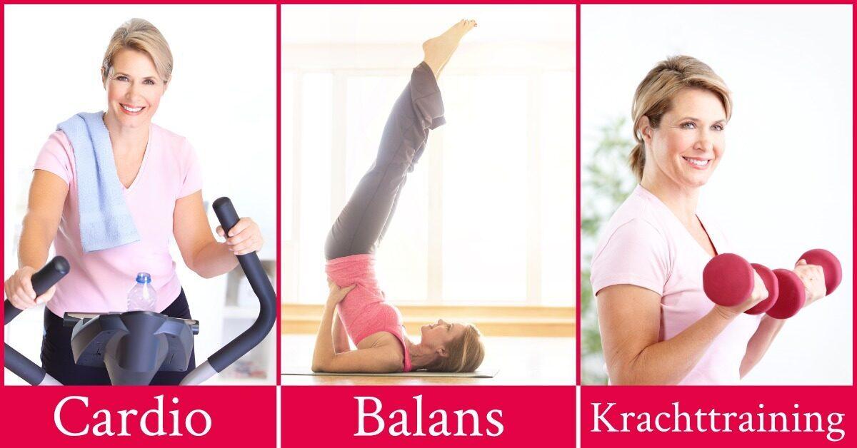 vrouw sport anti aging huidveroudering cardio balans krachttraining